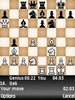 بازی شطرنج برای نوکیا chessgenius v3.60